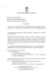 Korlátozó intézkedések - Szociális intézményekre vonatkozóan
